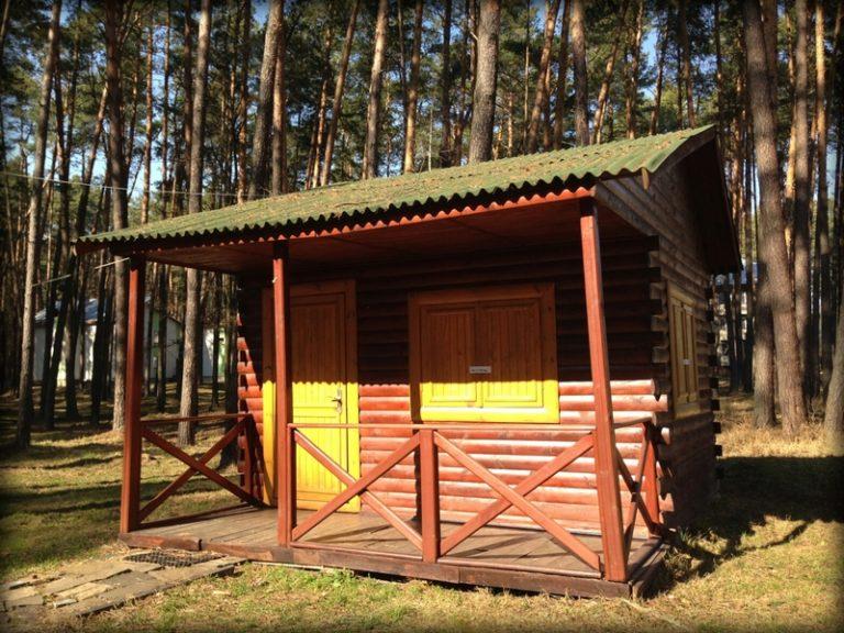 Одноместный коттедж (деревянные домики) №1-4