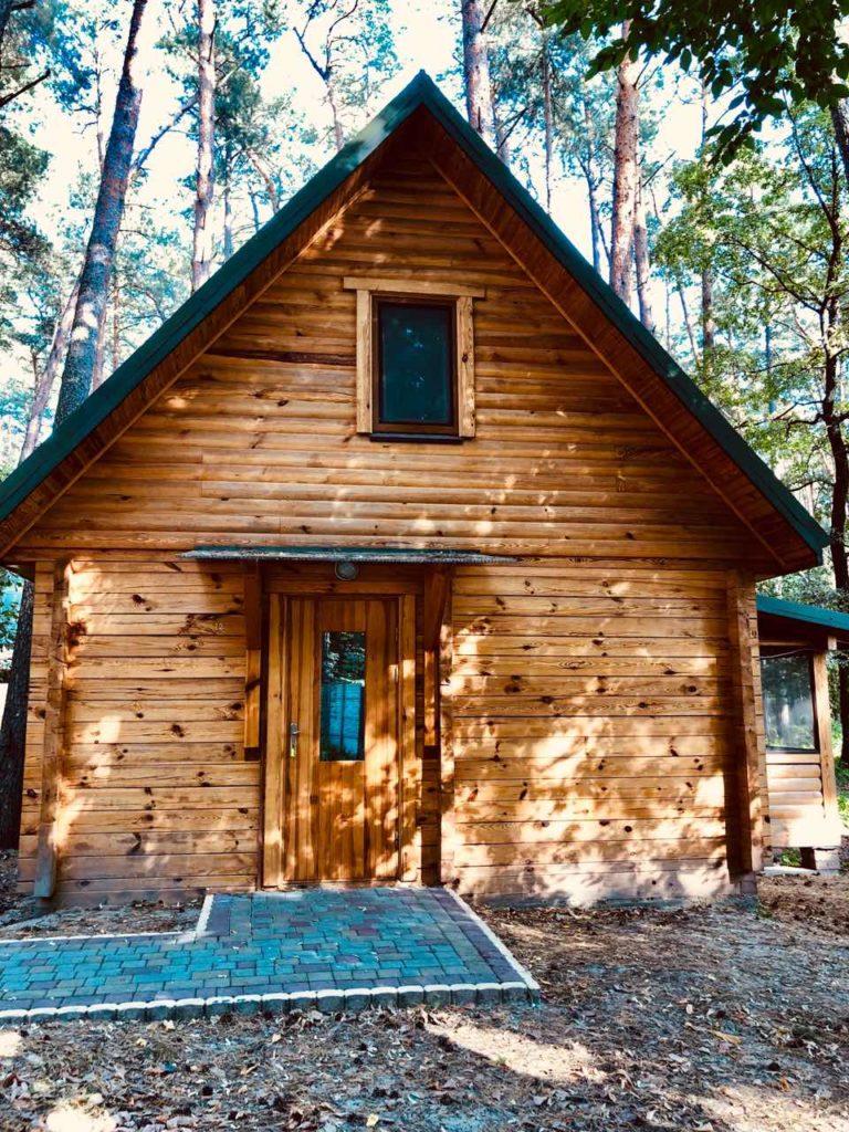 Двухэтажный деревянный дом №10-14 (с дополнительными местами)